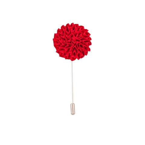 Lapel Pin - Red Marigold Flower-Fashion-PropShop24.com