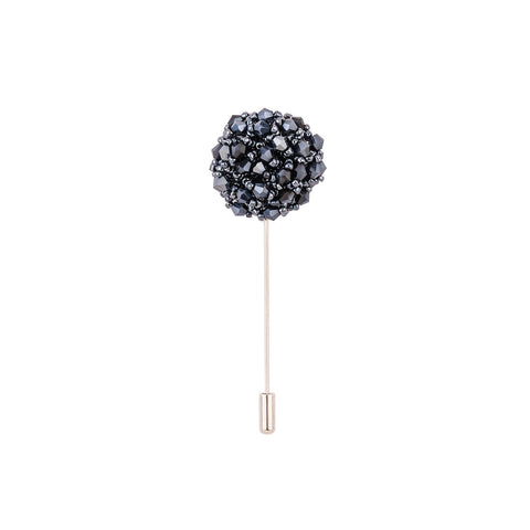 Lapel Pin - Black Beads & Stones-Fashion-PropShop24.com