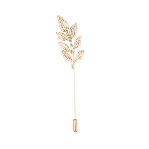 Lapel Pin - Golden Plant Leaf-Fashion-PropShop24.com