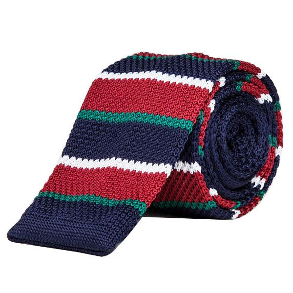 Knitted Tie - Blue, Green,Red & White-Fashion-PropShop24.com