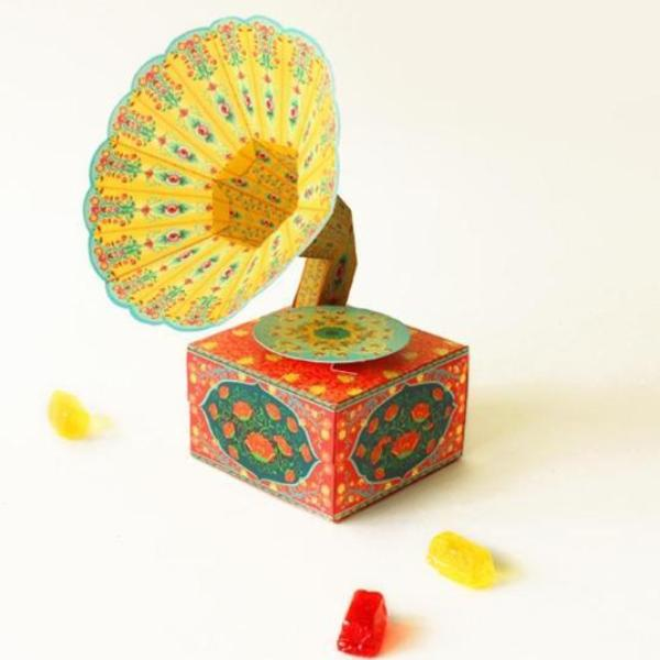 Diy Mini Gramophone Box - Colorful-STATIONERY-PropShop24.com