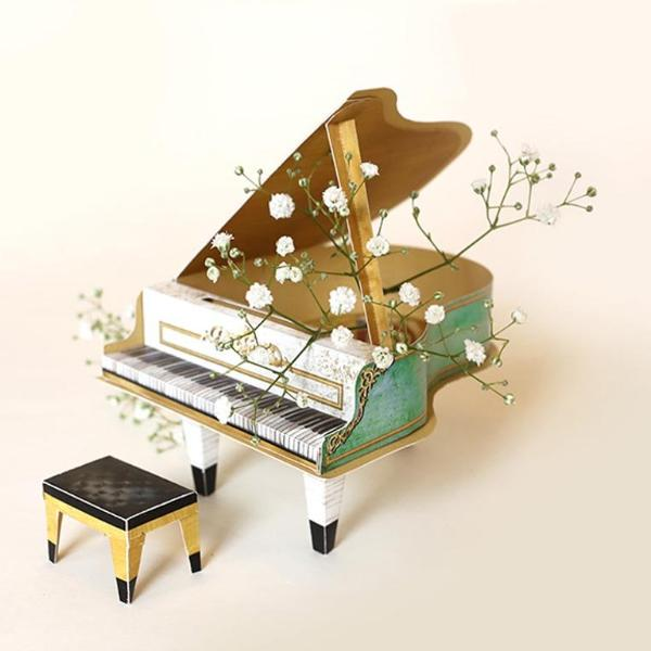 2020 And 2021 DIY Grand Piano - Realistic Turquoise-DESK ACCESSORIES-PropShop24.com