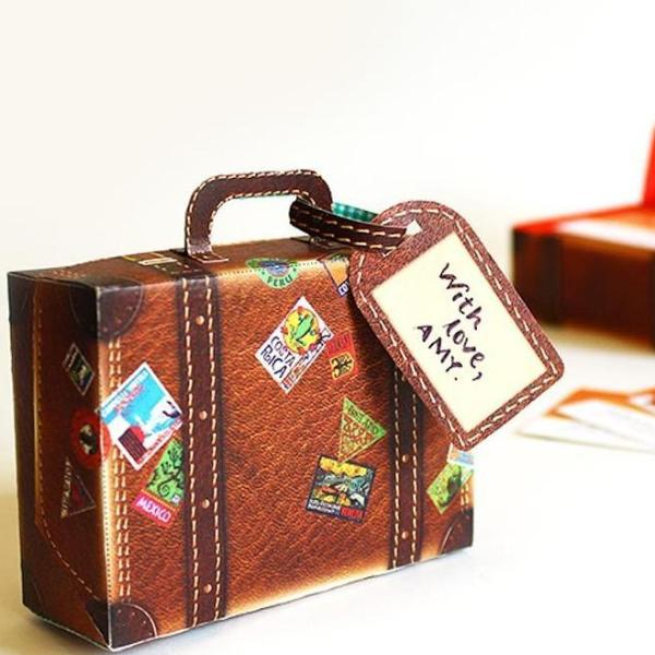 Diy Mini Suitcase : Brown Leather Design-STATIONERY-PropShop24.com