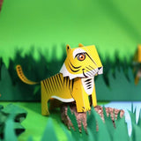 DIY Mini Tiger Educational Papercraft Kit - Endangered Wildlife Series of DIY Mini Friends-STATIONERY-PropShop24.com