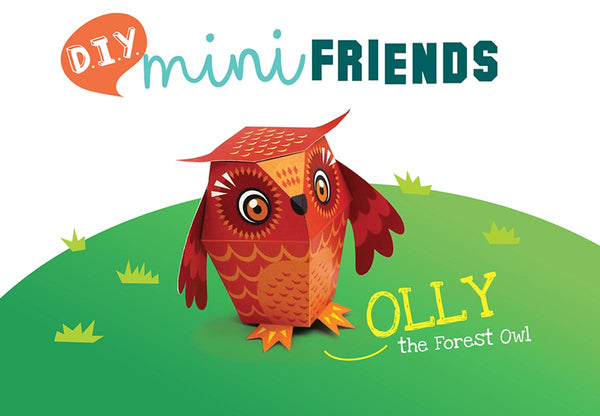 DIY Mini Forest Owl Educational Papercraft Kit - Endangered Wildlife Series of DIY Mini Friends-STATIONERY-PropShop24.com