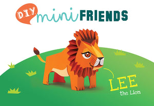 DIY Mini Lion Educational Papercraft Kit - Endangered Wildlife Series Of DIY Mini Friends-DESK ACCESSORIES-PropShop24.com
