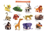 DIY Mini Elephant Educational Papercraft Kit - Endangered Wildlife Series of DIY Mini Friends-STATIONERY-PropShop24.com