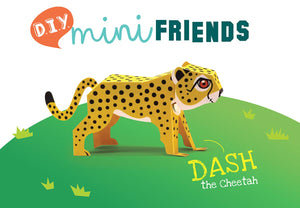 DIY Mini Cheetah Educational Papercraft Kit - Endangered Wildlife Series Of DIY Mini Friends-DESK ACCESSORIES-PropShop24.com