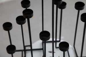 Black Heights Candle Holder-CANDLES + AROMA-PropShop24.com