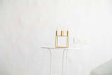 Gold Geo Square Candle Holder-HOME-PropShop24.com
