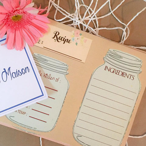 Recipe Cards - Beige - Set of 10-Stationery-PropShop24.com