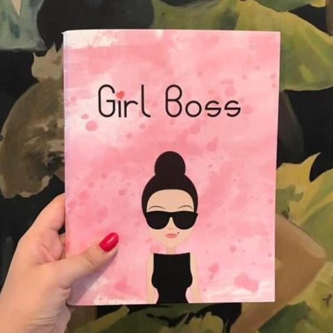 Girl Boss - Notebook - Pink-Stationery-PropShop24.com