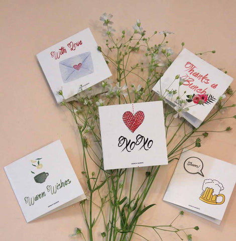 mini cards - set of 5 - love-Stationery-PropShop24.com