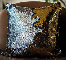 Colour Changing Cushion Cover - Silver Gold-Home-PropShop24.com