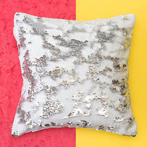 Colour Changing Cushion Cover - Silver White-Home-PropShop24.com