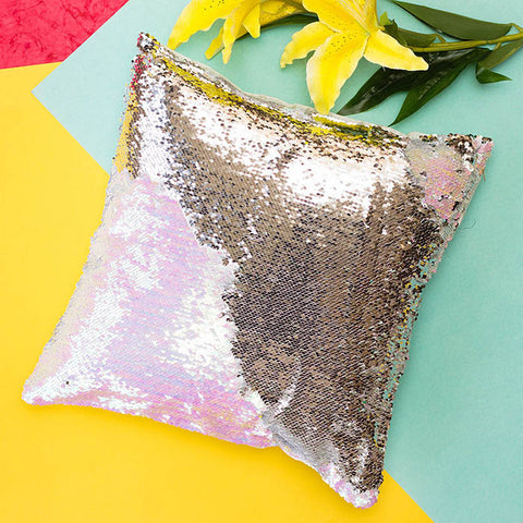 Colour Changing Cushion Cover - Silver Glitter-Home-PropShop24.com