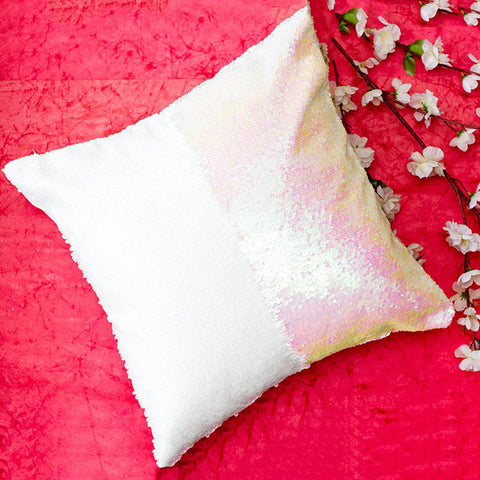 Colour Changing Cushion Cover - White Glitter-Home-PropShop24.com