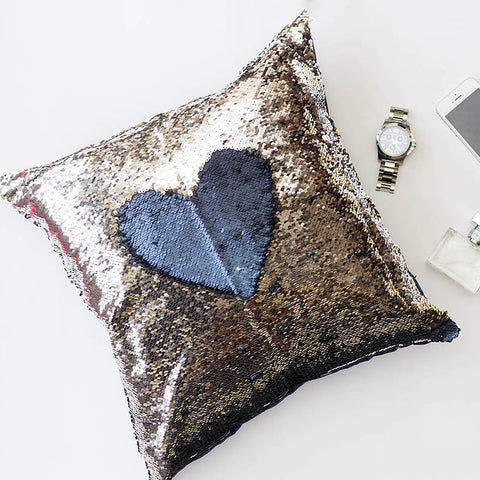 Colour Changing Cushion Cover - Navy Blue Silver-Home-PropShop24.com