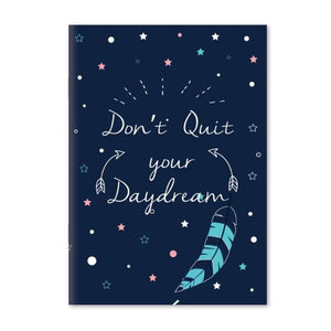 Notebook- Dont Quit Your Daydream Notebook - A5 Size - Blue-NOTEBOOKS + JOURNALS-PropShop24.com