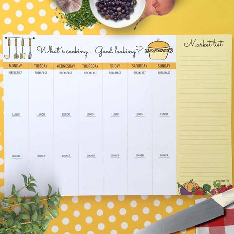 Meal Planner - What's Cooking-Stationery-PropShop24.com
