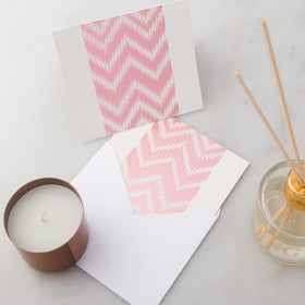 Notecards - Set of 12 - Rose Gold Chevron - propshop-24