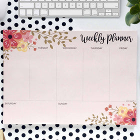 Weekly Planner - Floral - 50 sheets-STATIONERY-PropShop24.com
