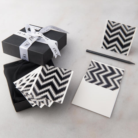 Notecards - Set of 12 - Small - Black Chevron - propshop-24