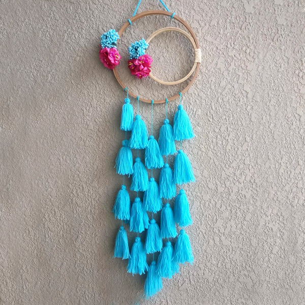 Dreamcatcher Inspired Decor - Floral - Blue-HOME ACCESSORIES-PropShop24.com