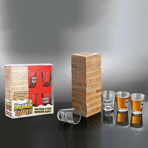 Game - Drunken Tower With Shot Glasses-BAR + PARTY-PropShop24.com