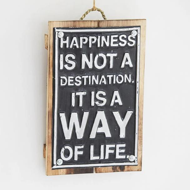 Wooden Frame - Happiness Is Way Of Life-HOME ACCESSORIES-PropShop24.com