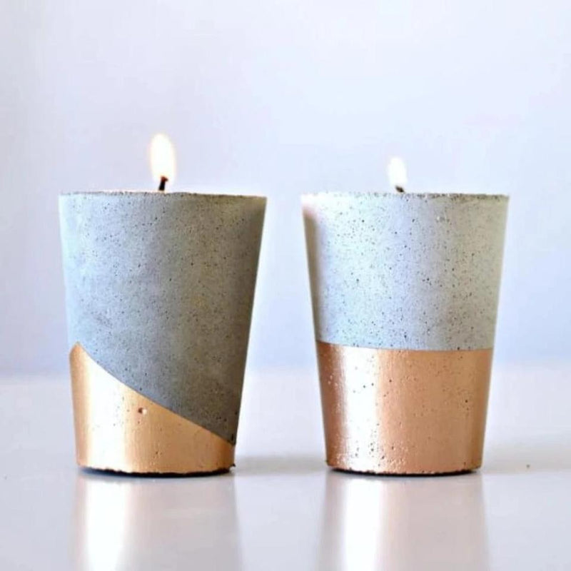 Concrete Tealight Holder - Set Of 2-CANDLES + AROMA-PropShop24.com
