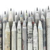 Pencils - Newspaper Print - Set of 4-STATIONERY-PropShop24.com