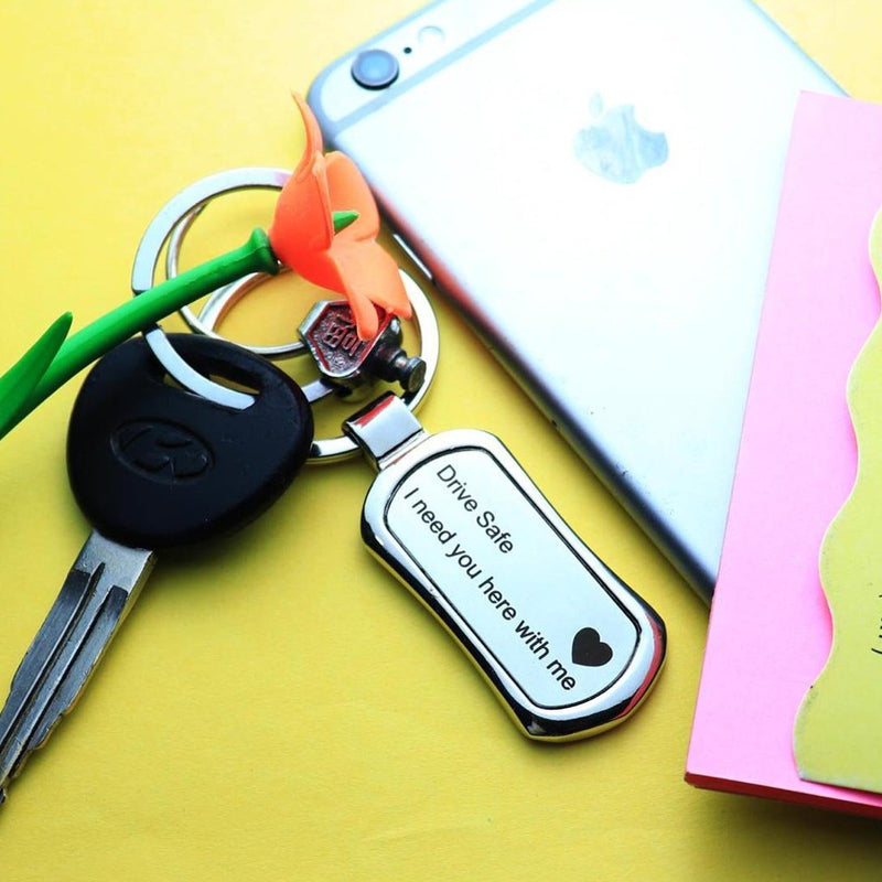 Keychain - Drive Safe - Metal-TRAVEL ESSENTIALS-PropShop24.com