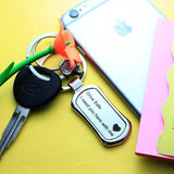 Keychain - Drive Safe - Metal-FASHION-PropShop24.com