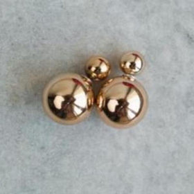 Earrings - Round Gold ball-JEWELLERY-PropShop24.com