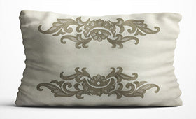 Cushion Cover - Patterned - Cream & Brown-Home-PropShop24.com
