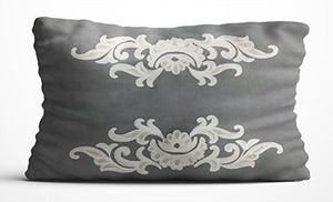 Cushion Cover - Grey & Cream-HOME ACCESSORIES-PropShop24.com