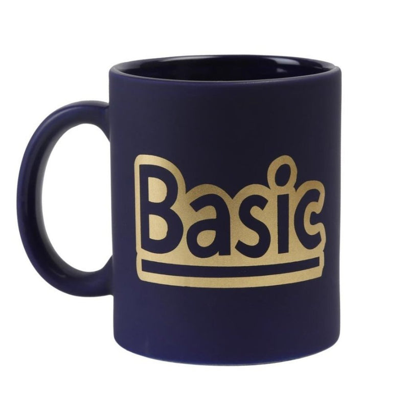Coffee Mug - Basic With Gold Print - Matte Blue-DINING + KITCHEN-PropShop24.com