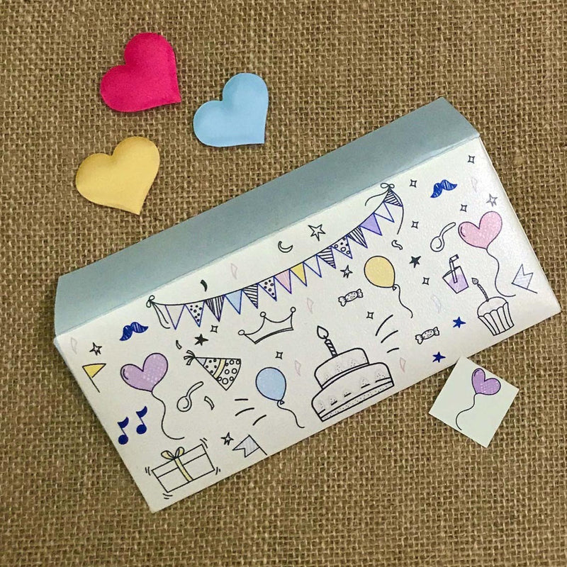 Envelope - Birthday Doodle-GIFTING ACCESSORIES-PropShop24.com