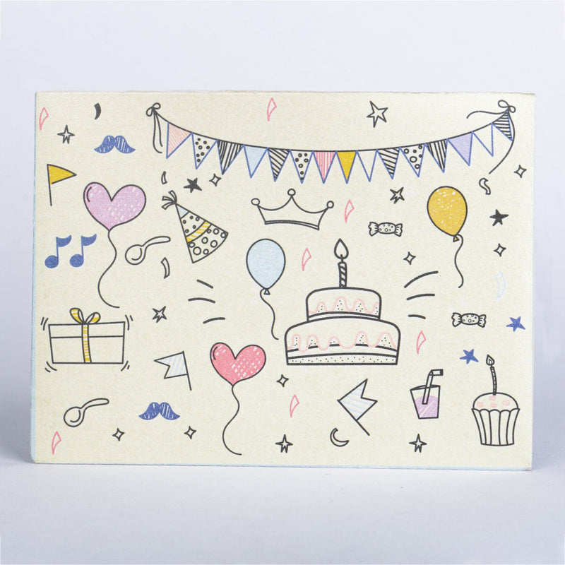 Birthday Card And Envelope - Blue-GREETING CARDS-PropShop24.com