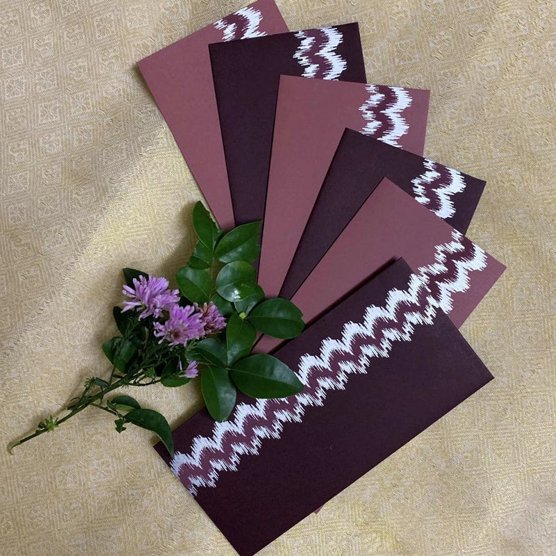 Gift Envelopes - Blushing Ikat - Set Of 6-GIFTING ACCESSORIES-PropShop24.com