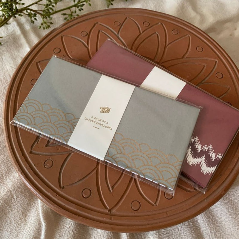 Envelope Gift Set Combo - Blushing Ikat And Oriental Odyssey-GIFTING ACCESSORIES-PropShop24.com