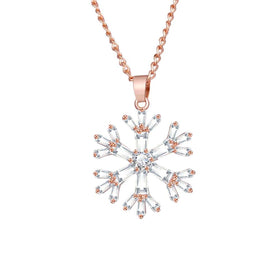 Pendant - Exquisite Snowflake - Rose Gold-JEWELLERY-PropShop24.com