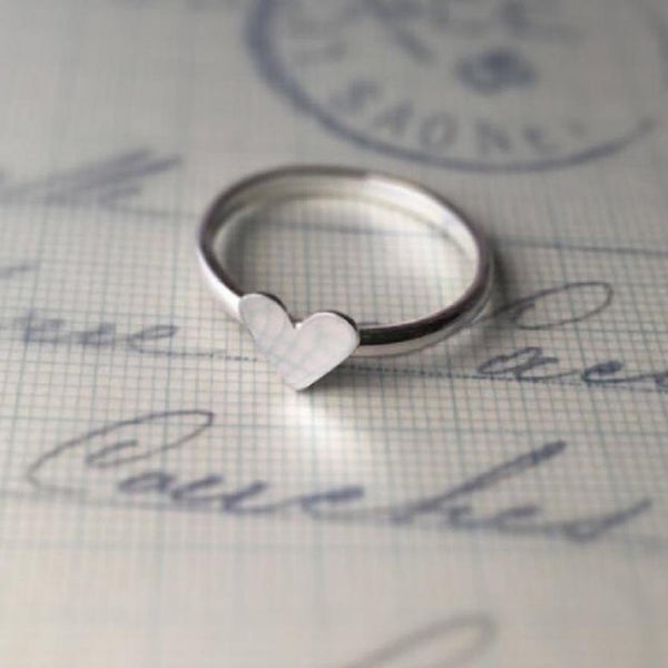 Ring - Heart - Pure Silver-JEWELLERY-PropShop24.com