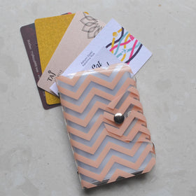 Card Holder - Peach Chevron - propshop-24