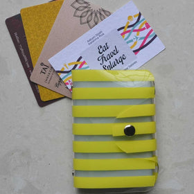 Card Holder - Yellow Stripes - propshop-24