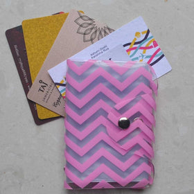 Card Holder - Fuchsia Chevron - propshop-24