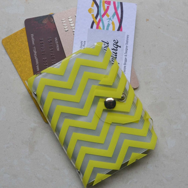 Card Holder - Yellow Chevron - propshop-24