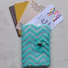 Card Holder - Blue Chevron - propshop-24