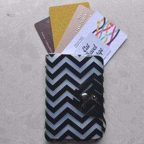 Card Holder - Black Chevron - propshop-24